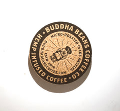 Buddha Beans Branded Coasters - 6ct