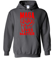 MAGA Lives Matter Hoodie - Red - The Trumptastic Shop