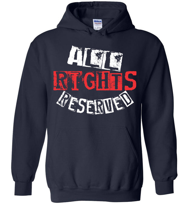 All Rights Reserved Hoodie 1 - Red & White - The Trumptastic Shop