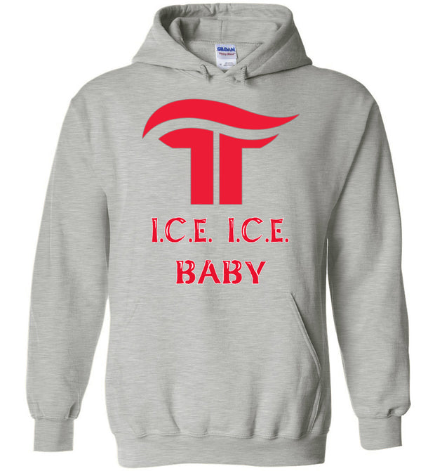 I.C.E. I.C.E BABY Hoodie - White Outline - The Trumptastic Shop