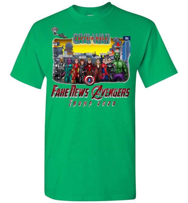Captain MAGA & The Fake News Avengers Tee - The Trumptastic Shop
