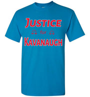 Justice for Kavanaugh Tee - Republican Red w Silver Outline - The Trumptastic Shop