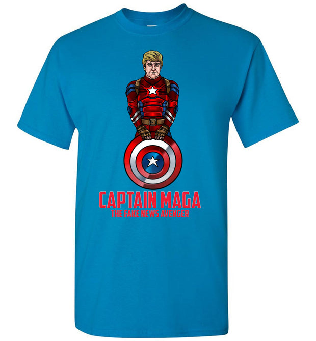 Cap MAGA The Fake News Avenger  Tee - Red - The Trumptastic Shop