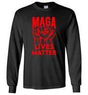 MAGA Lives Matter Long Sleeve Tee - Red - The Trumptastic Shop
