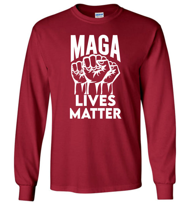 MAGA Lives Matter Long Sleeve Tee - The Trumptastic Shop