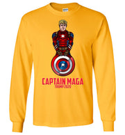 Cap MAGA Trump 2020 Long Sleeve Tee - Red - The Trumptastic Shop