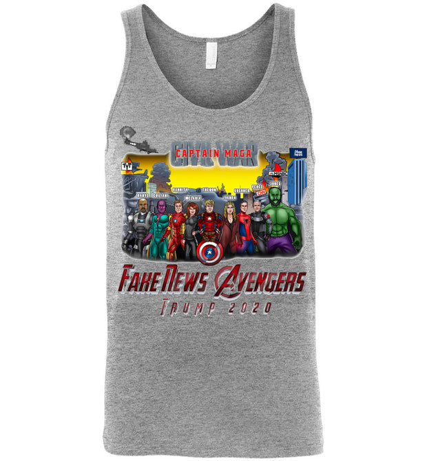Captain MAGA & The Fake News Avengers Tank - The Trumptastic Shop