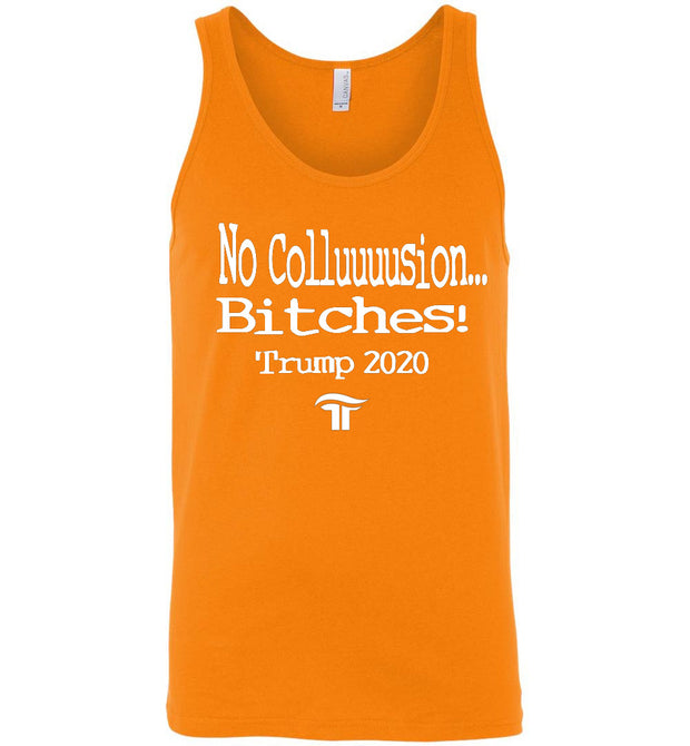No Collusion Bitches Tank - White - The Trumptastic Shop