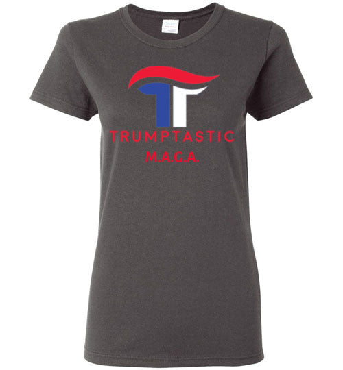 Women's Trumptastic MAGA Tee - Red, White and Blue Logo - The Trumptastic Shop