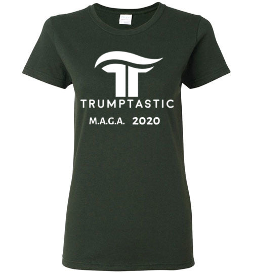 Women's Trumptastic MAGA 2020 Tee - White Logo - The Trumptastic Shop