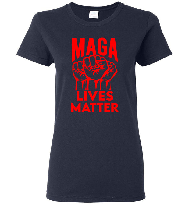 Women's MAGA Lives Matter Tee - Red - The Trumptastic Shop