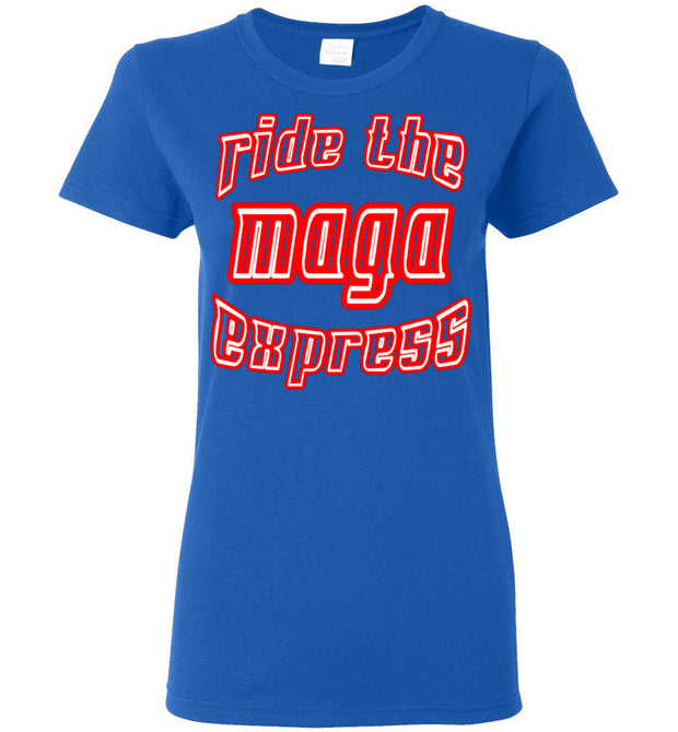 Women's Ride The MAGA Express Tee - The Trumptastic Shop