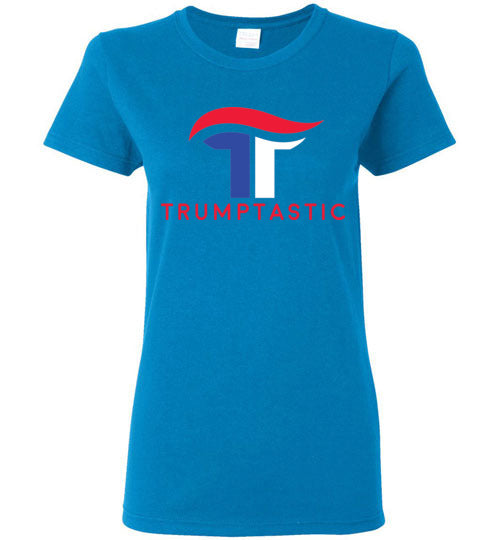 Women's Trumptastic Tee -  Red, White and Blue Logo - The Trumptastic Shop