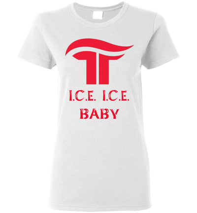 Women's I.C.E. I.C.E BABY Tee - White Outline - The Trumptastic Shop