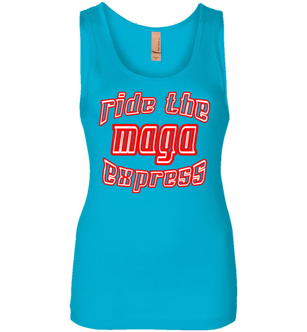 Women's Ride The MAGA Express Tank - The Trumptastic Shop