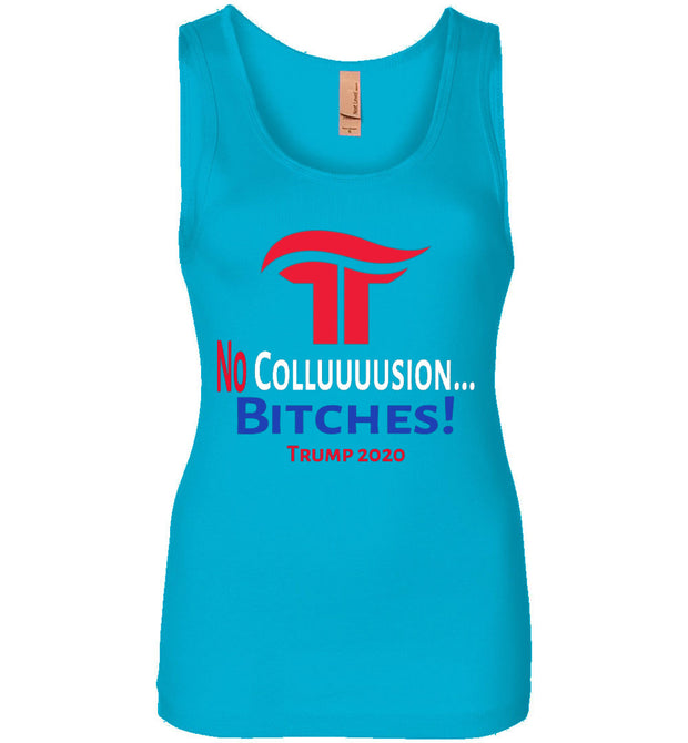 Women's No Collusion Trump 2020 Tank - Red, White & Blue - The Trumptastic Shop