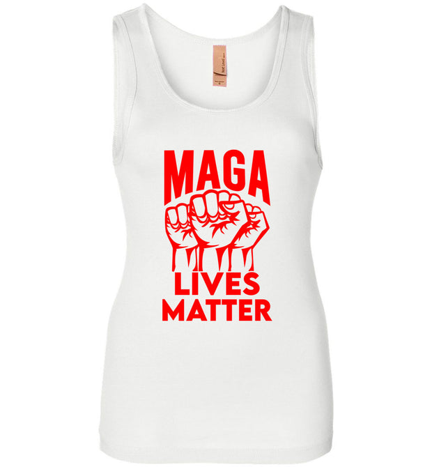 Women's MAGA Lives Matter Tank - Red - The Trumptastic Shop