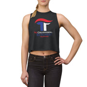 Women's No Collusion Bitches Trump 2020 Crop Top - Red, White & Blue - The Trumptastic Shop