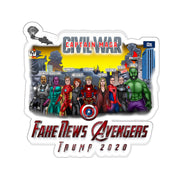 Captain MAGA & The Fake News Avengers Kiss-Cut Stickers - The Trumptastic Shop