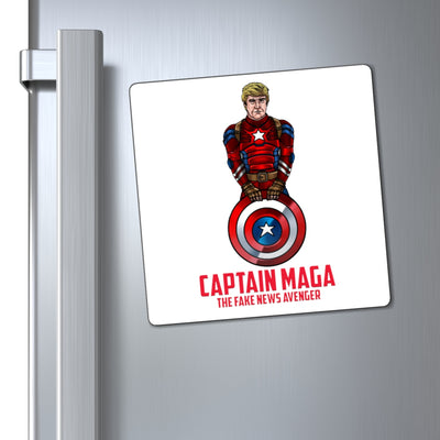 Captain MAGA The Fake News Avenger Magnet - The Trumptastic Shop