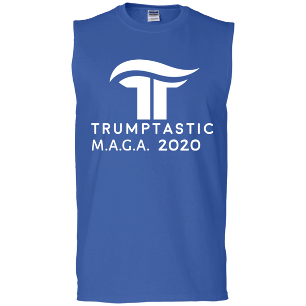 Trumptastic MAGA 2020 Muscle Tank- White Logo - The Trumptastic Shop