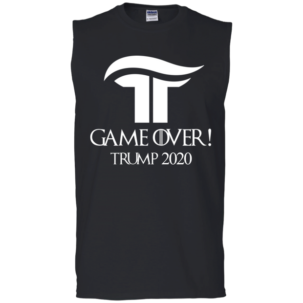 GOT Game Over Trump 2020 Muscle Tank - White - The Trumptastic Shop