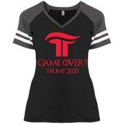 Women's GOT Game Over Trump 2020 Baseball Tee - Republican Red - The Trumptastic Shop