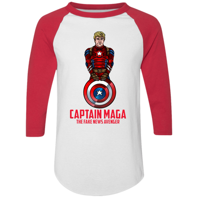 Captain MAGA The Fake News Avenger Baseball Tee - The Trumptastic Shop