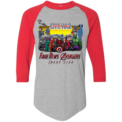 Captain MAGA & The Fake News Avengers Baseball Tee - The Trumptastic Shop