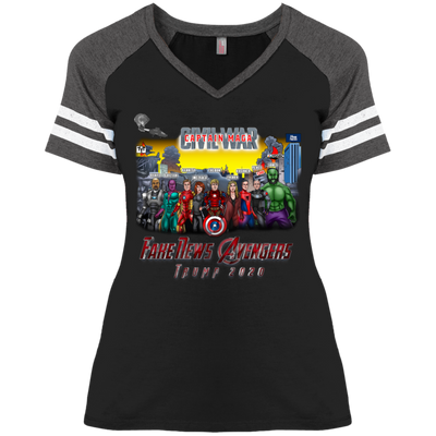 Women's Captain MAGA & The Fake News Avengers Baseball Tee - The Trumptastic Shop
