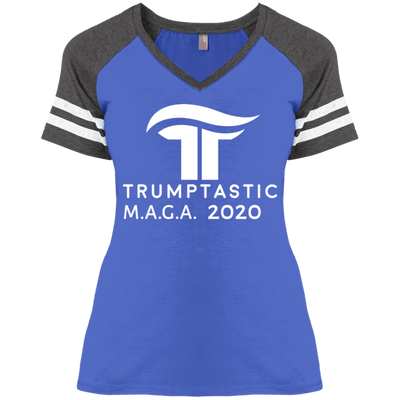 Women's Trumptastic MAGA 2020 Baseball Tee - White Logo - The Trumptastic Shop