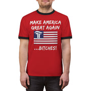 MAGA Bitches Ringer Tee - Red Outline - The Trumptastic Shop