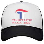 Trumptastic MAGA 2020 Trucker Hat  Trucker Hat - Red, White & Blue - The Trumptastic Shop