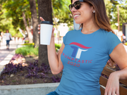 Women's Trumptastic 2020 Tee - Red, White and Blue Logo - The Trumptastic Shop