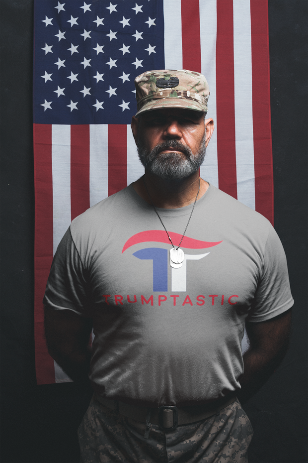 The Trumptastic Tee - Red, White and Blue Logo - The Trumptastic Shop