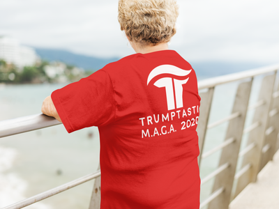 Women's Reverse Trumptasic MAGA 2020 Tee - White Logo - The Trumptastic Shop