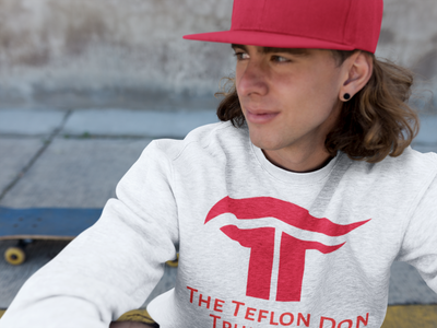 The Teflon Don 2020 Crewneck Sweatshirt - Republican Red - The Trumptastic Shop