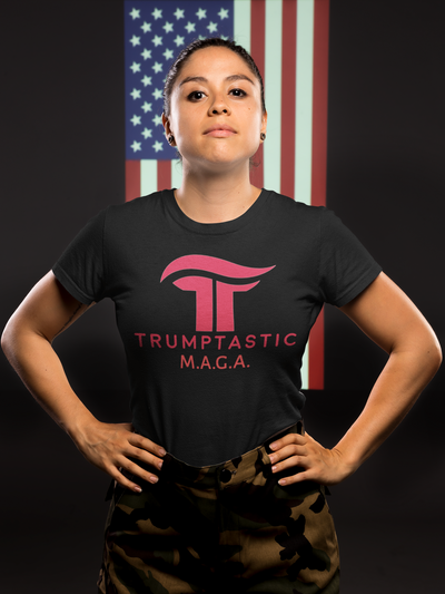 Women's Trumptastic MAGA Tee - Republican Red Logo - The Trumptastic Shop