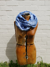 Load image into Gallery viewer, in various states | Tasmania | Cotton Scarf in Indigo Blue | Large