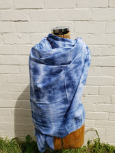 Load image into Gallery viewer, in various states | Tasmania | textiles | Cotton Scarf in Indigo Blue | Large | Made in Tasmania
