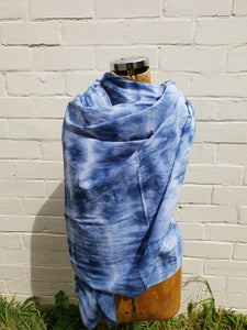 in various states | Tasmania | textiles | Cotton Scarf in Indigo Blue | Large | Made in Tasmania