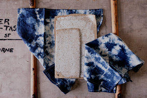 Linen Napkin Duo | Off White & Indigo Blue