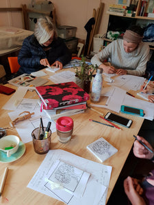 Workshop in Hobart- Sunday October 20th - Block printing on fabric