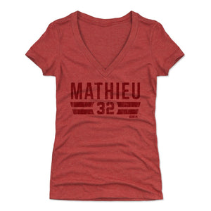 Tyrann Mathieu Women's V-Neck T-Shirt | 500 LEVEL