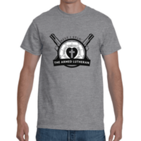 The Armed Lutheran Crest T-Shirt - Self Defense T-shirts & Accessories