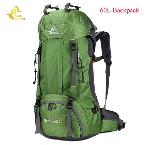 Free Knight 60L Waterproof Climbing Hiking Backpack Rain Cover Bag 50L Camping Mountaineering Backpack Sport Outdoor Bike Bag - Self Defense T-shirts & Accessories
