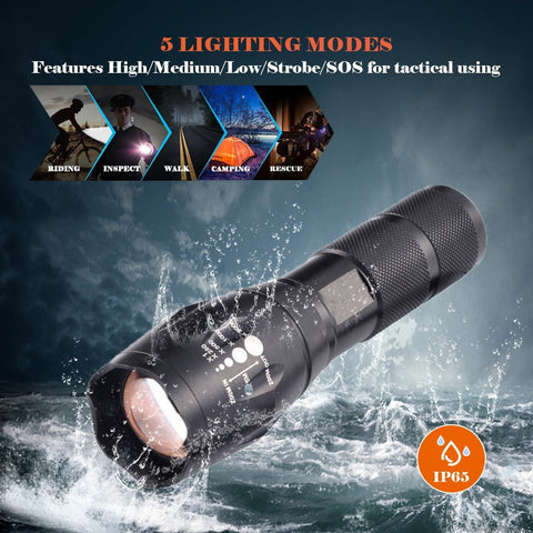 Waterproof Emergency Torch - Self Defense T-shirts & Accessories