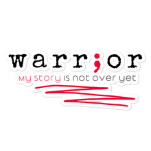 Load image into Gallery viewer, Warrior (Suicide Awareness) Bubble-free stickers