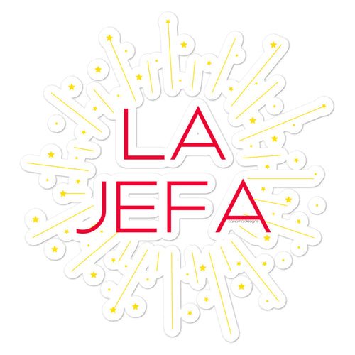La Jefa Bubble-free stickers