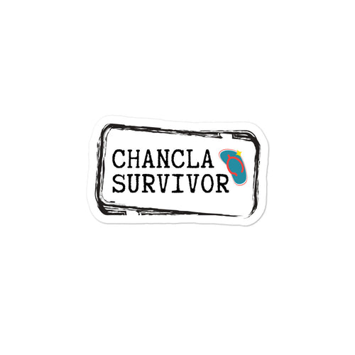 Chancla Survivor Bubble-free stickers